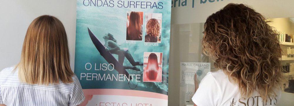 ondas surferas y alisado permanente