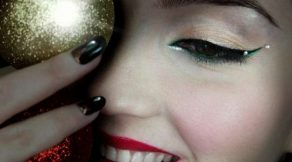 maquillaje peinado uñas Navidad