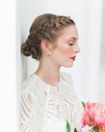 novias en otoño-invierno peinados trenzas