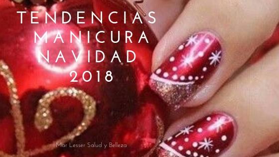 manicura en Navidad 2018