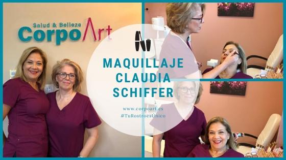 Maquillaje Claudia Schiffer en Málaga